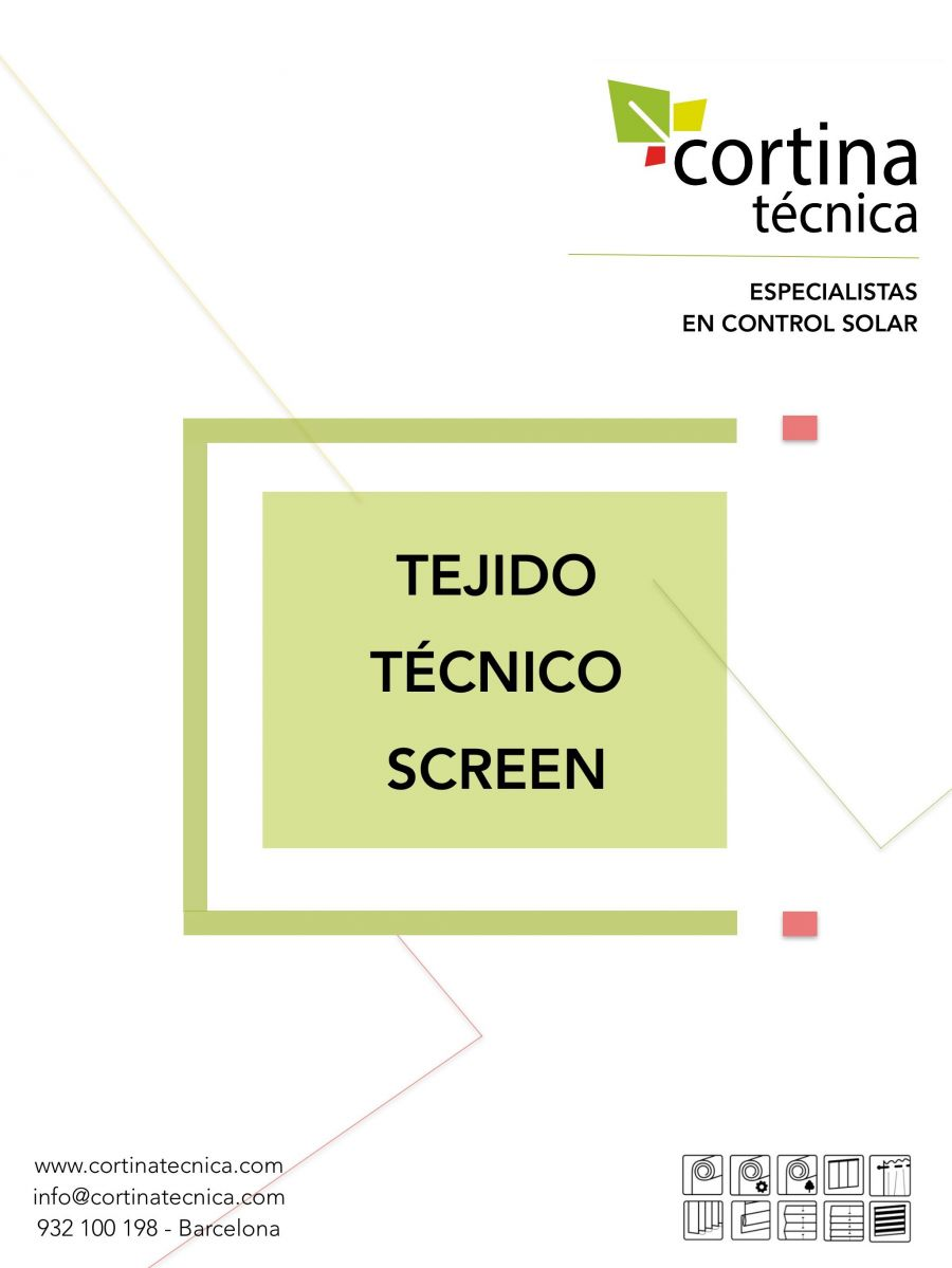 Tejido Técnico Screen folleto